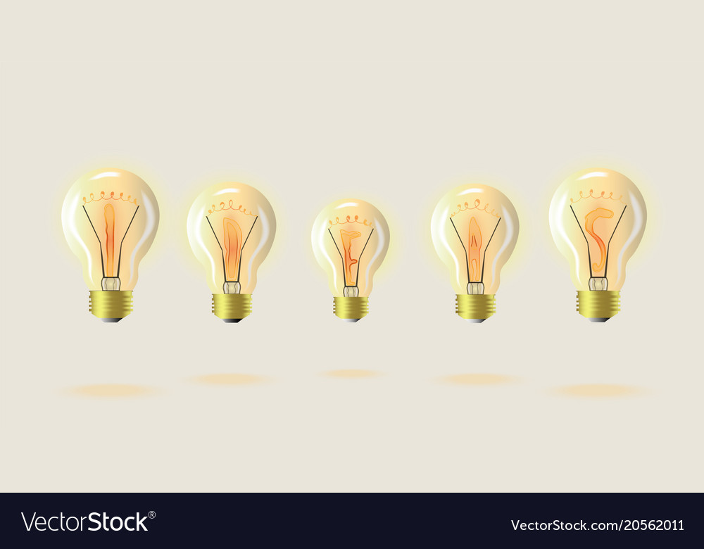 Light bulb detailed symbolic royalty free vector image