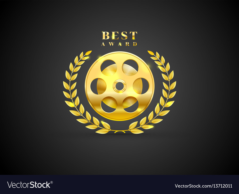 Movie prize award best winner vector image