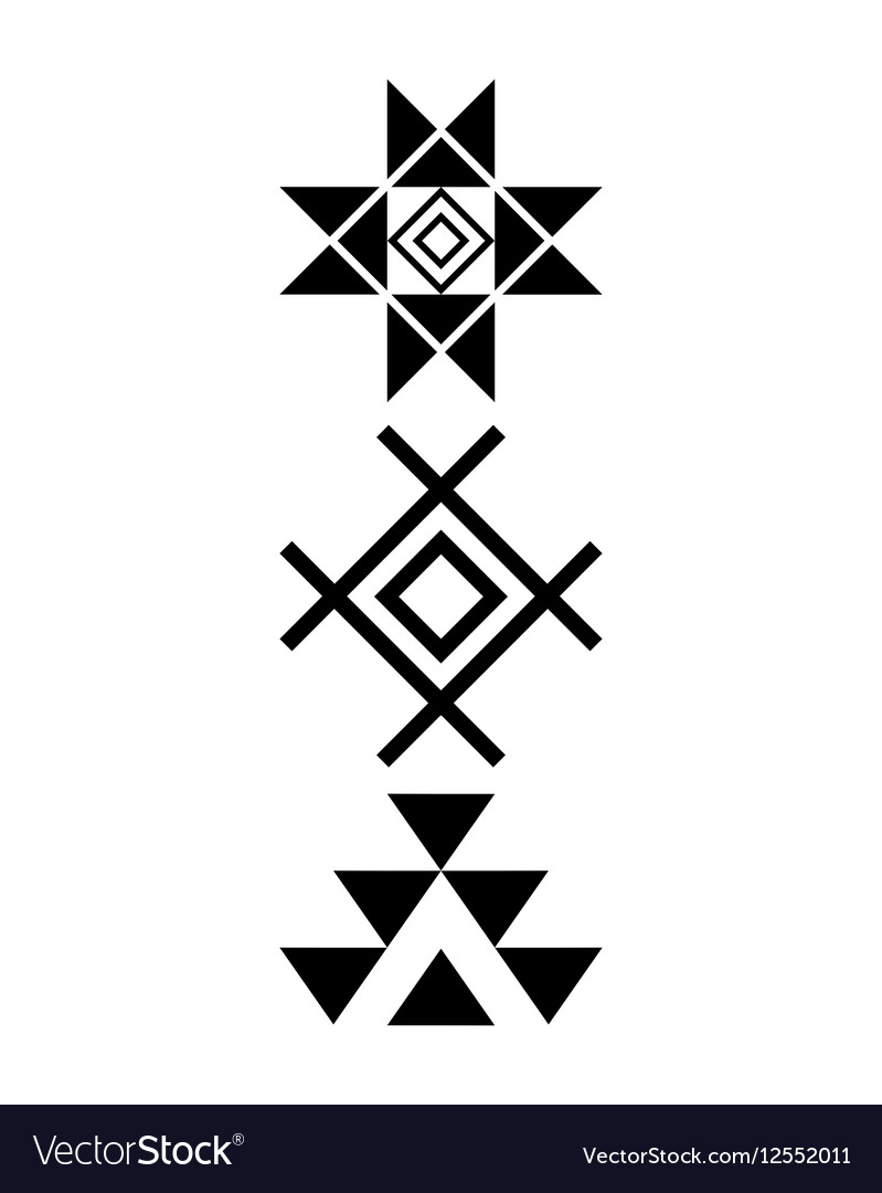 Navajo print Aztec pattern Tribal design Native