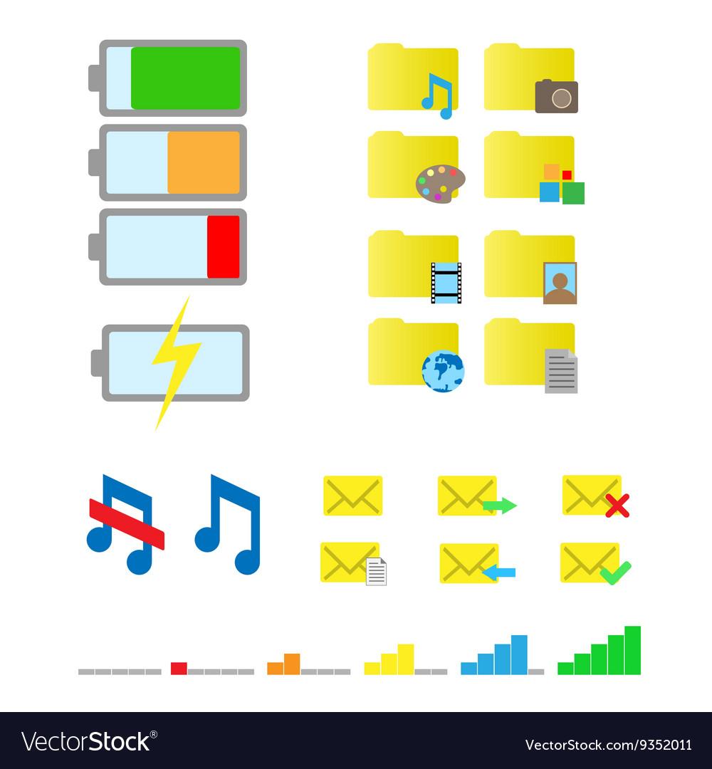 Smartphone flat icons