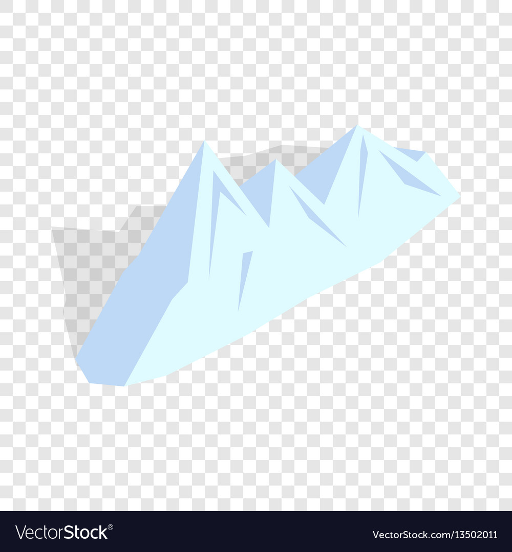 Snowy mountains isometric icon