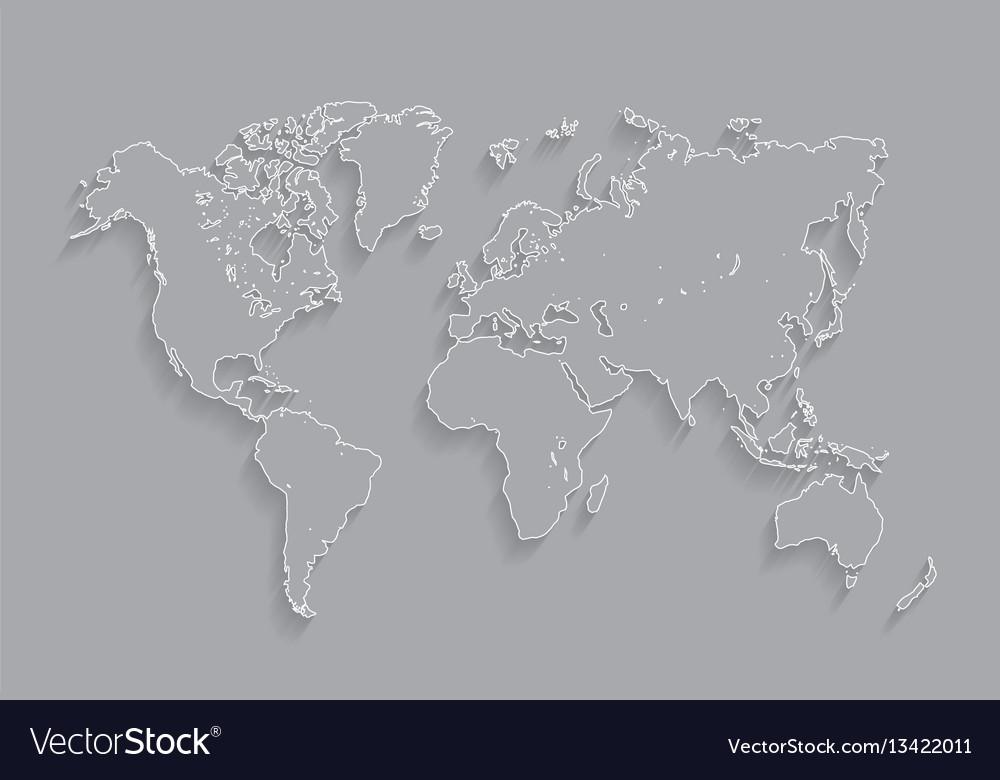 Stroke white world map