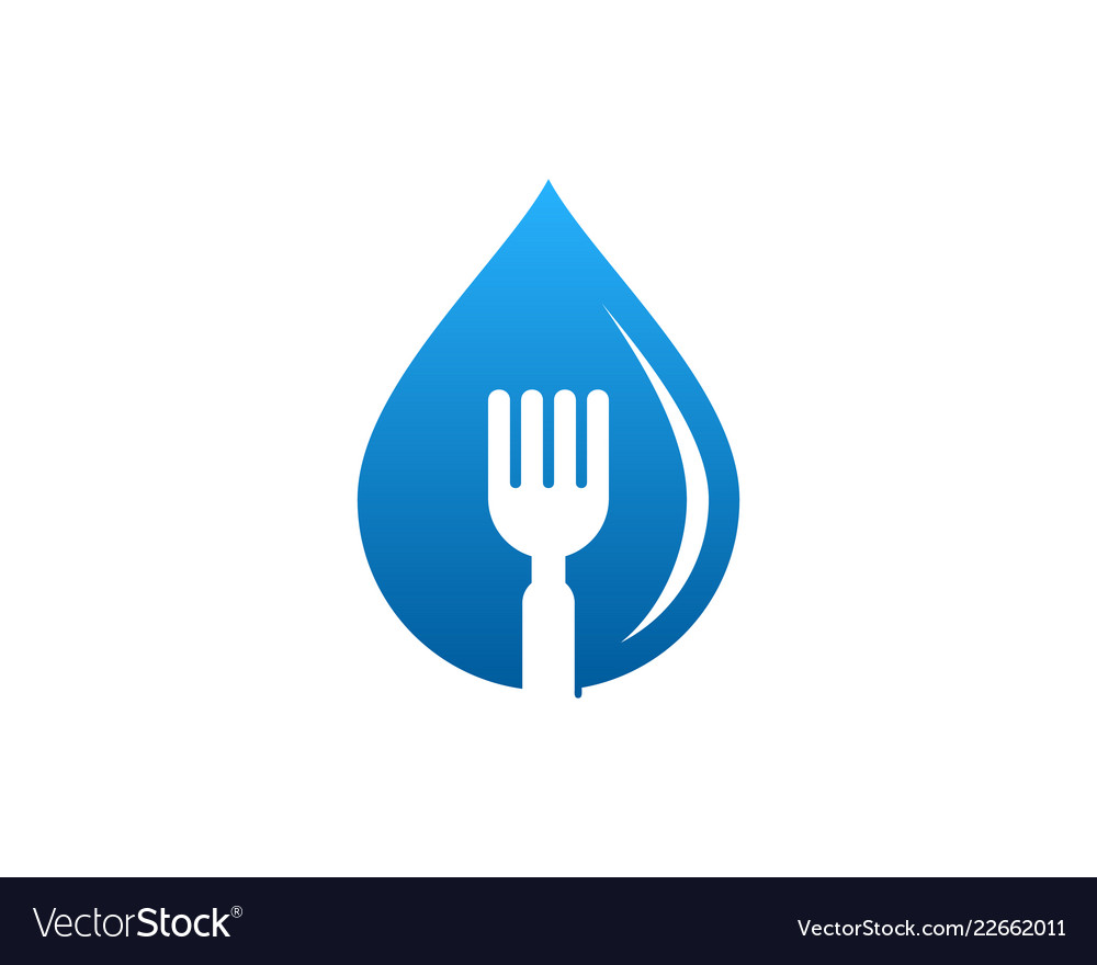 Water food logo icon design