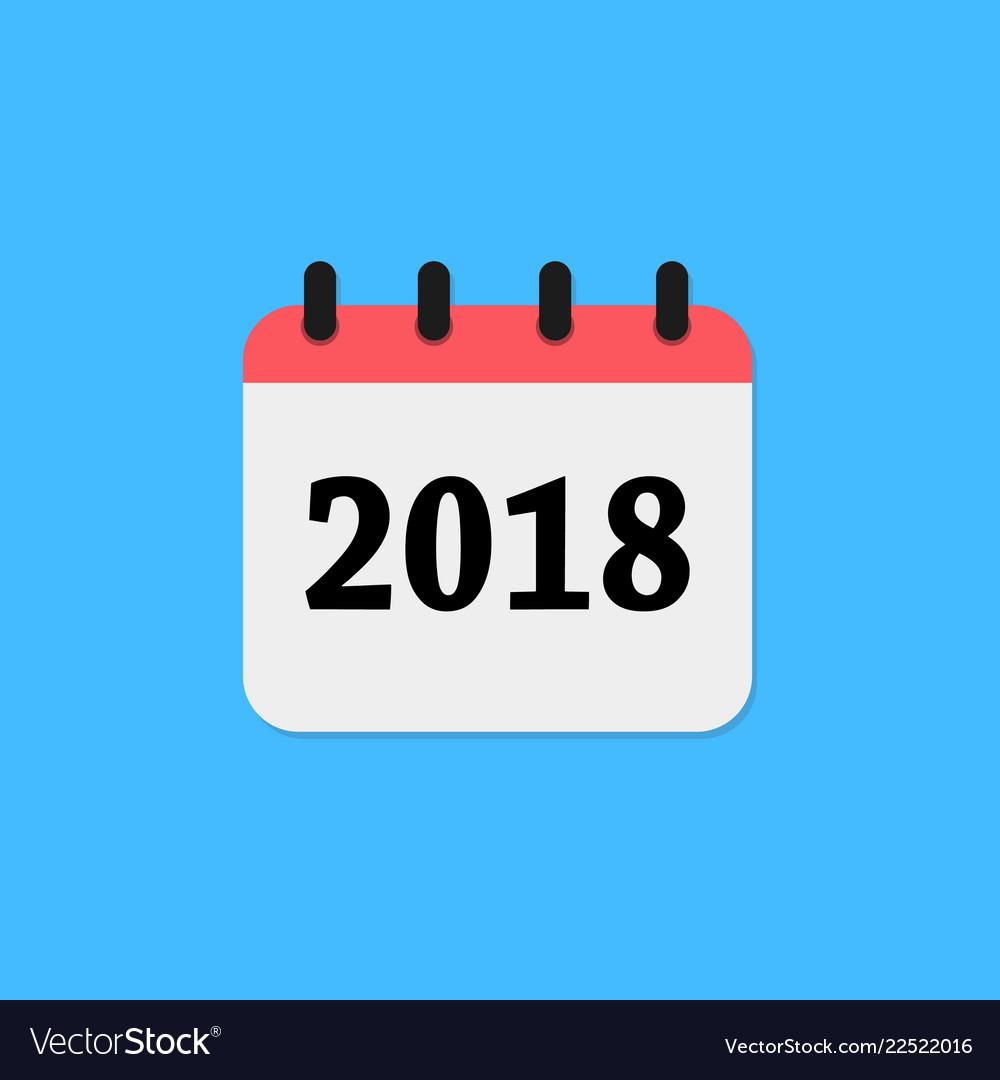 2018 calendar icon vector image