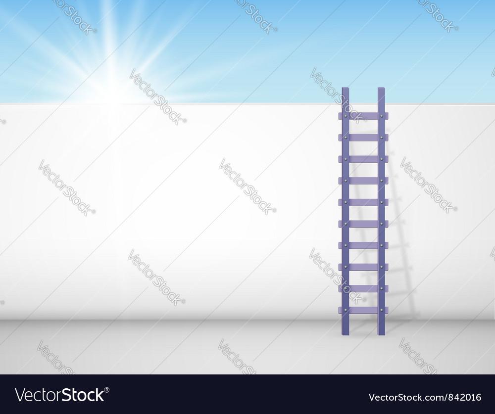Behind a wall