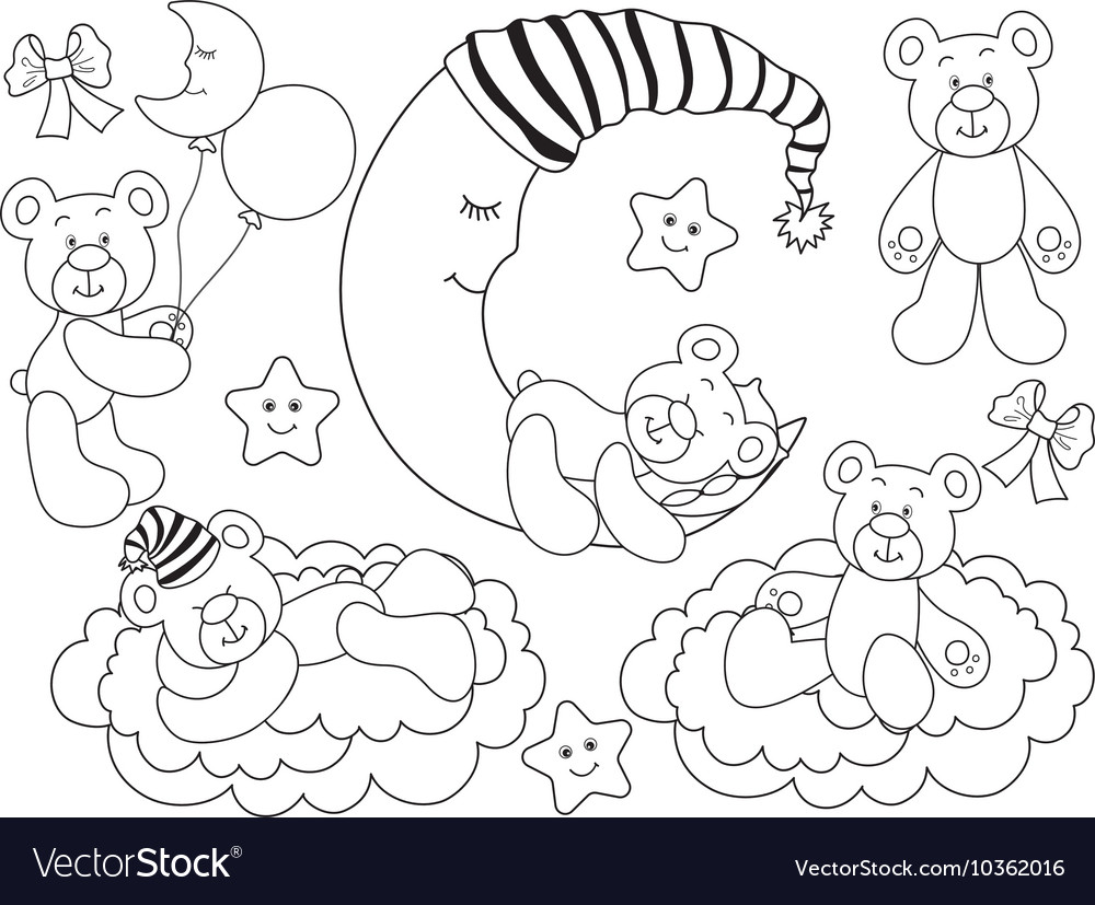 Black and White Baby Bears Set