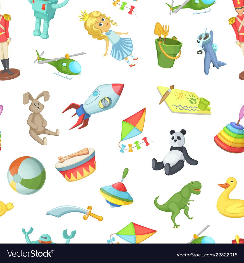 Cartoon children toys pattern or background