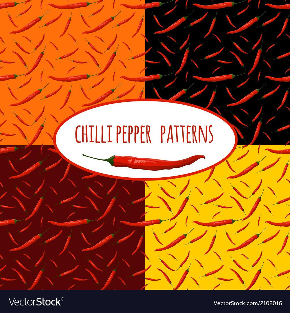 Chilli pepper seamless pattern