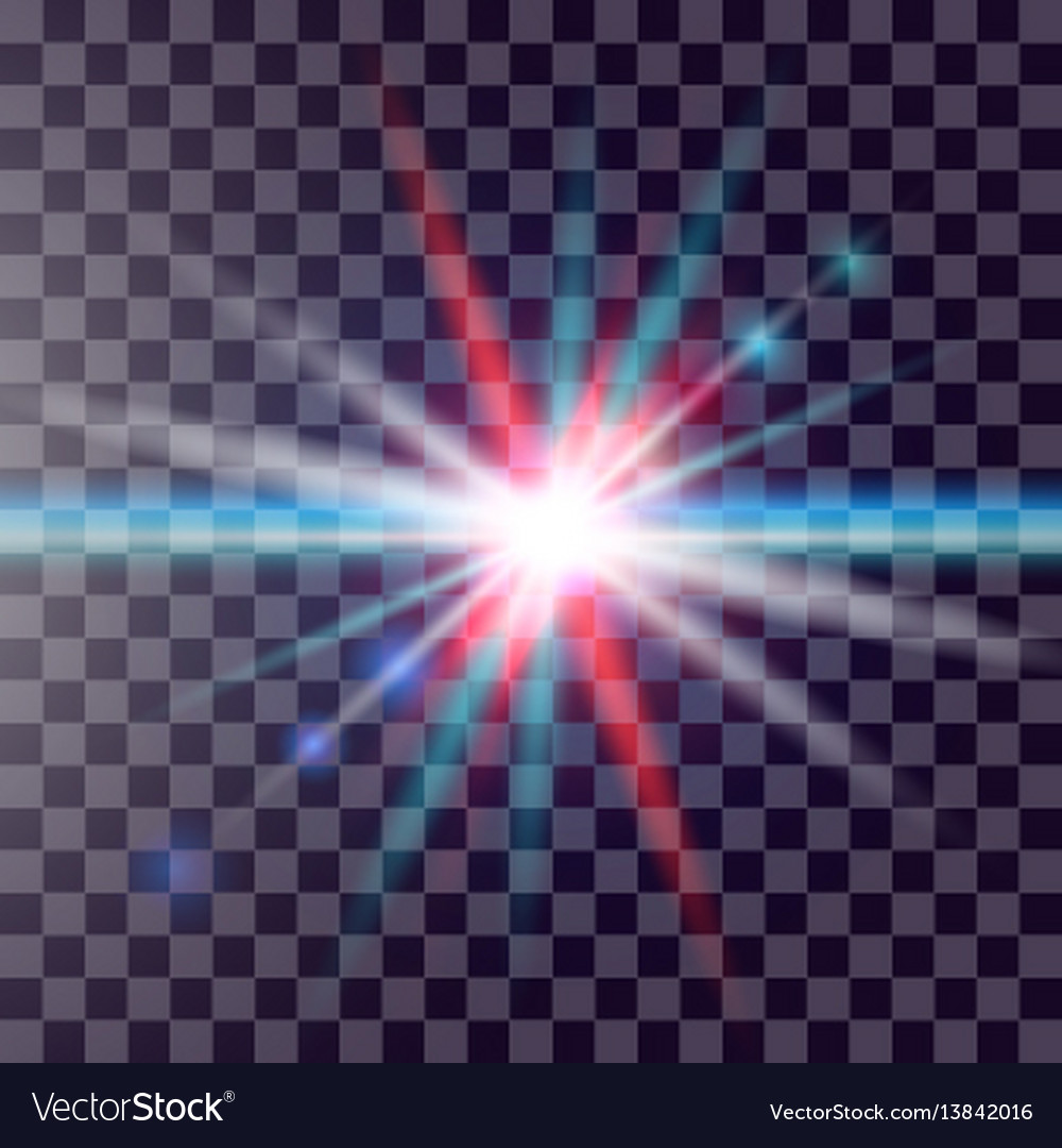 Colorful glowing light burst explosion on vector image