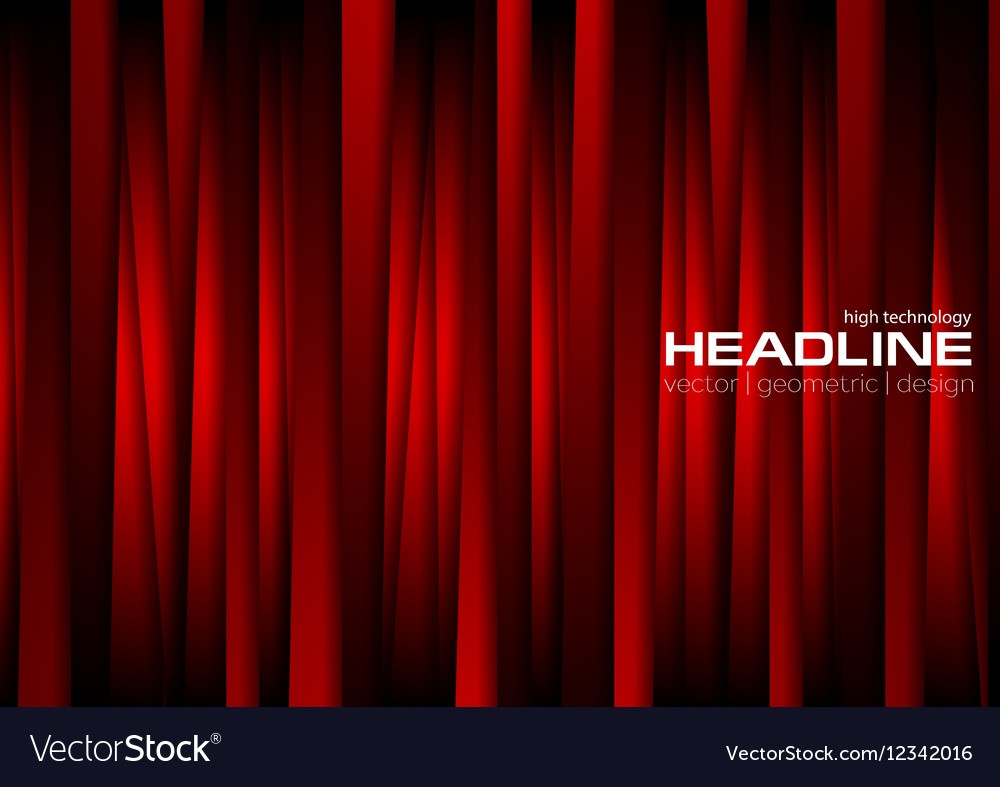 Dark red vertical tech stripes background vector image
