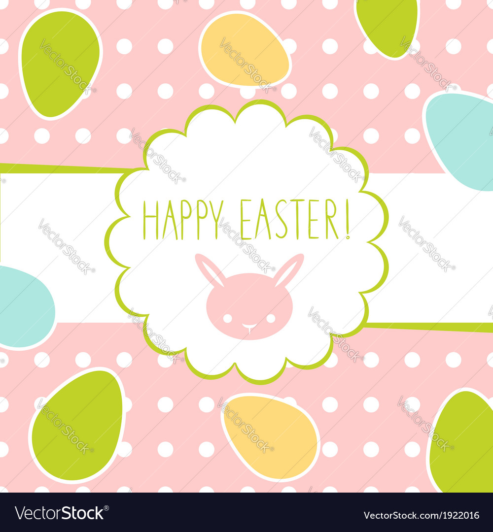 Easter greeting decorative postcard
