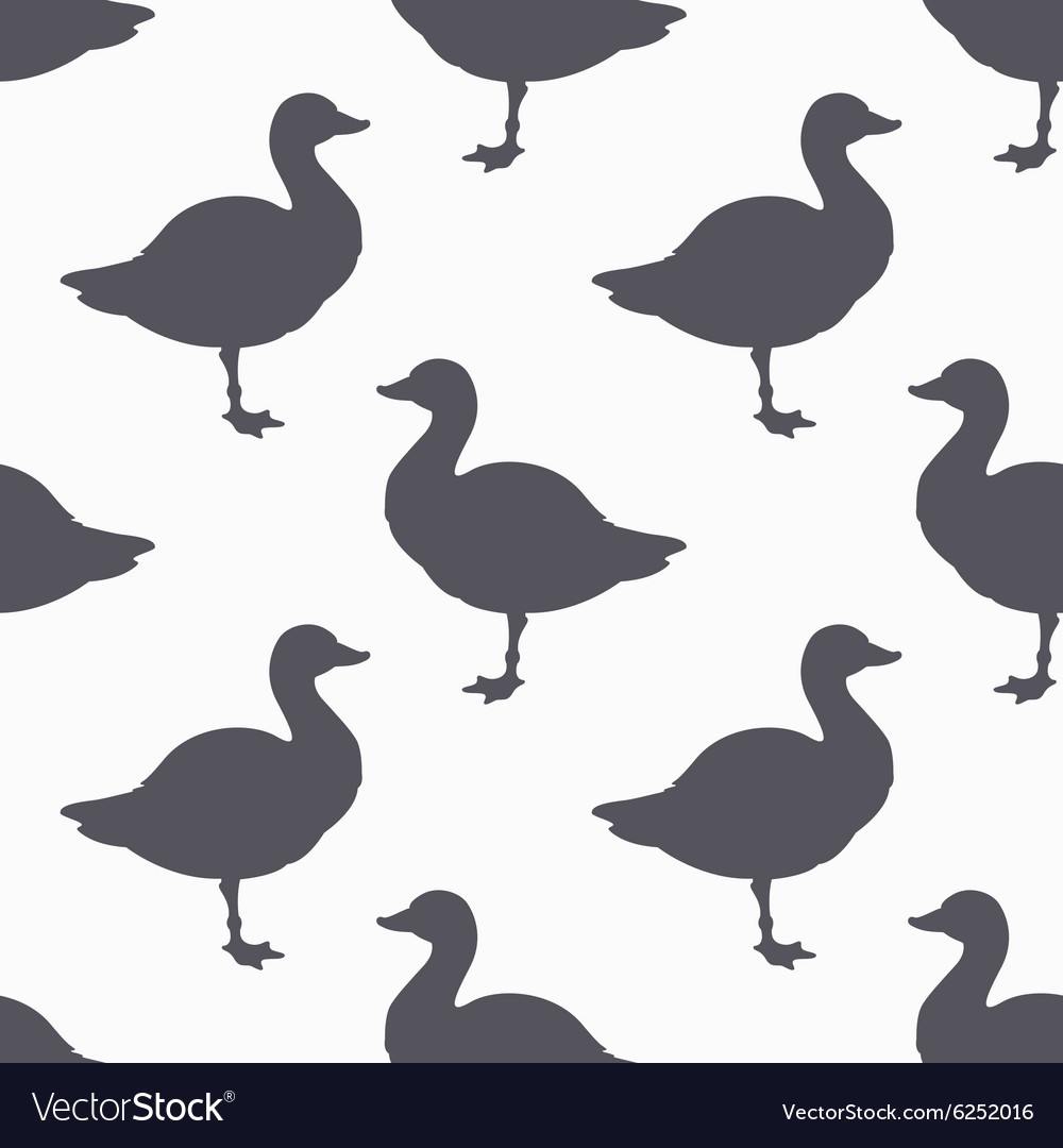 Farm bird silhouette seamless pattern Goose meat