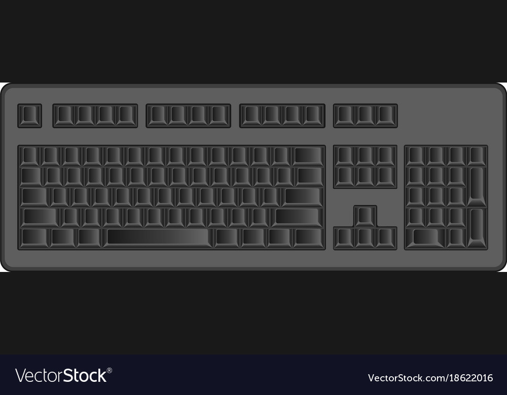 Object computer keyboard blank