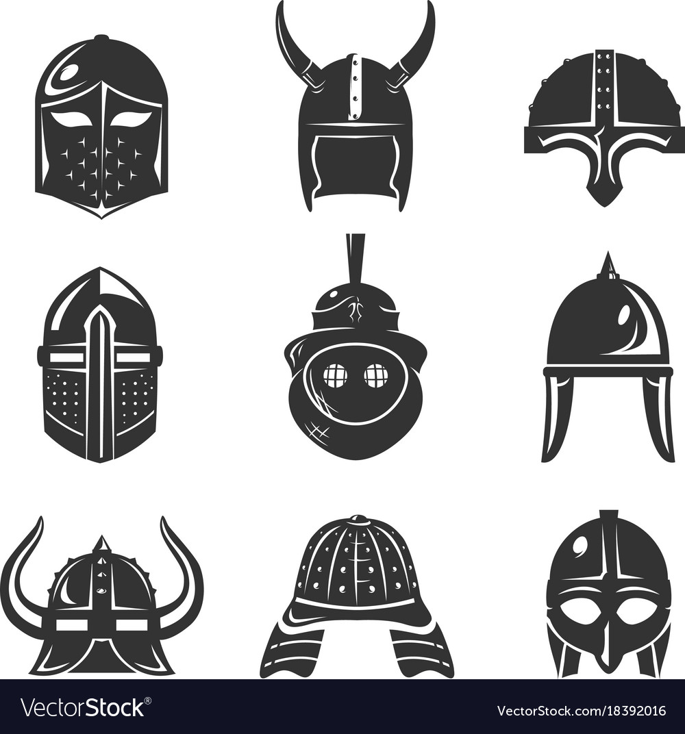 Warrior helmet set