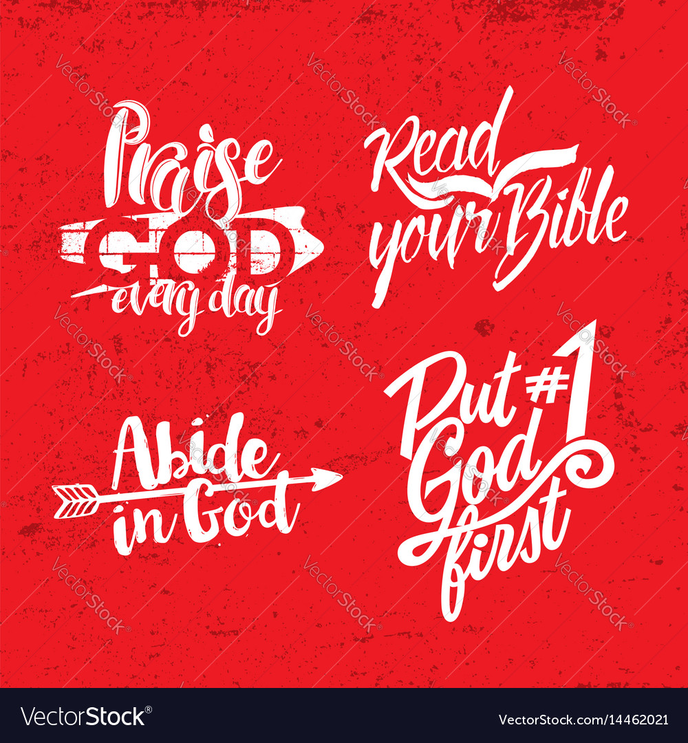 A set of christian lettering