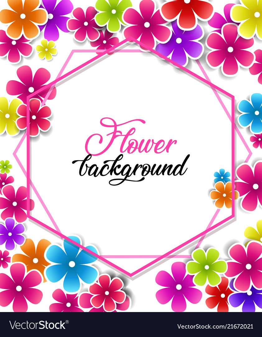 Colorful Floral Background Royalty Free Vector Image