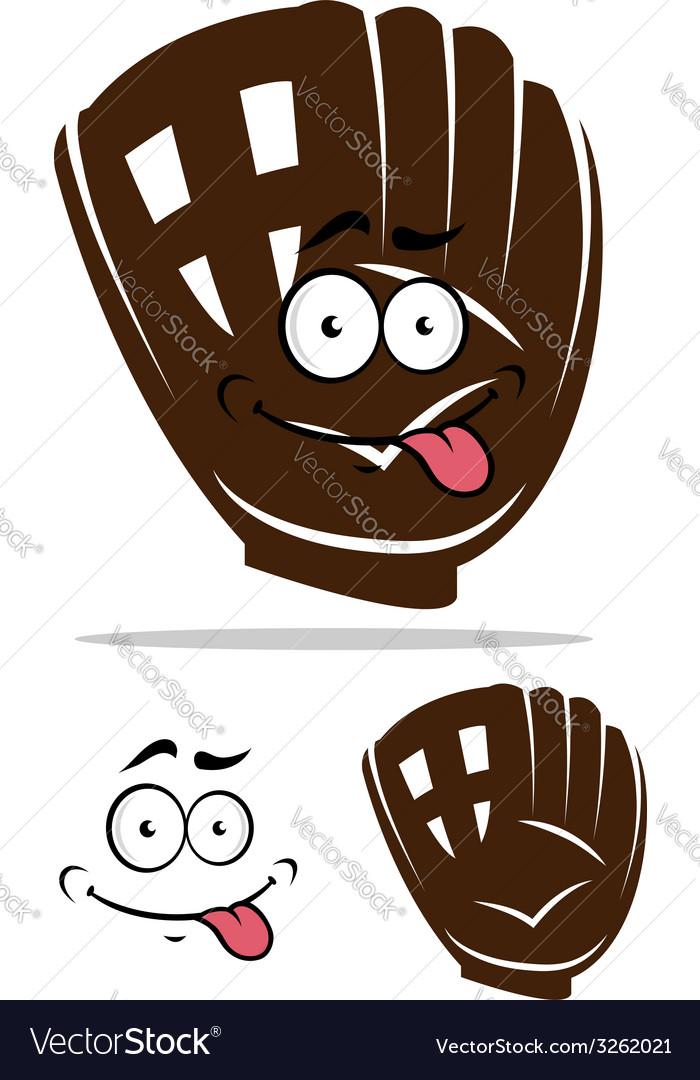 Cute cartoon baseball glove