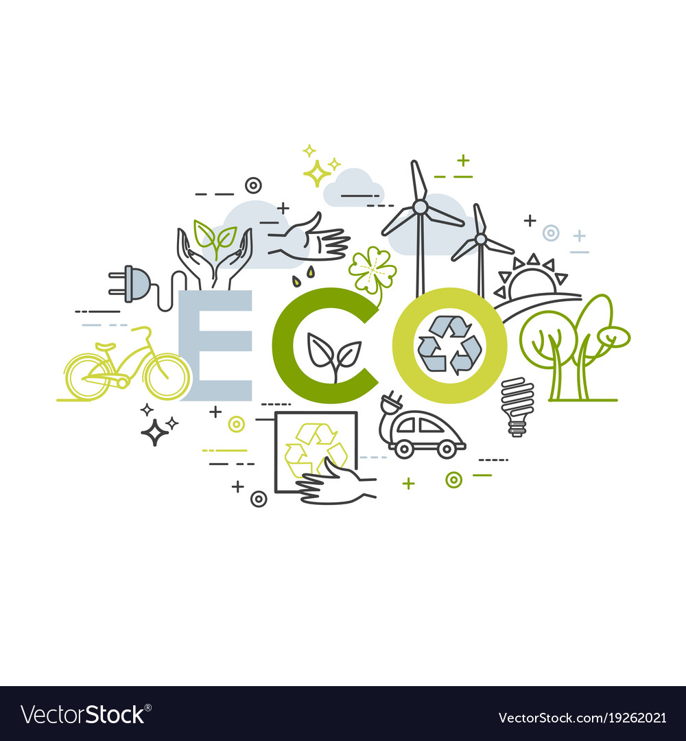 Ecology lifestyle green energy recycle