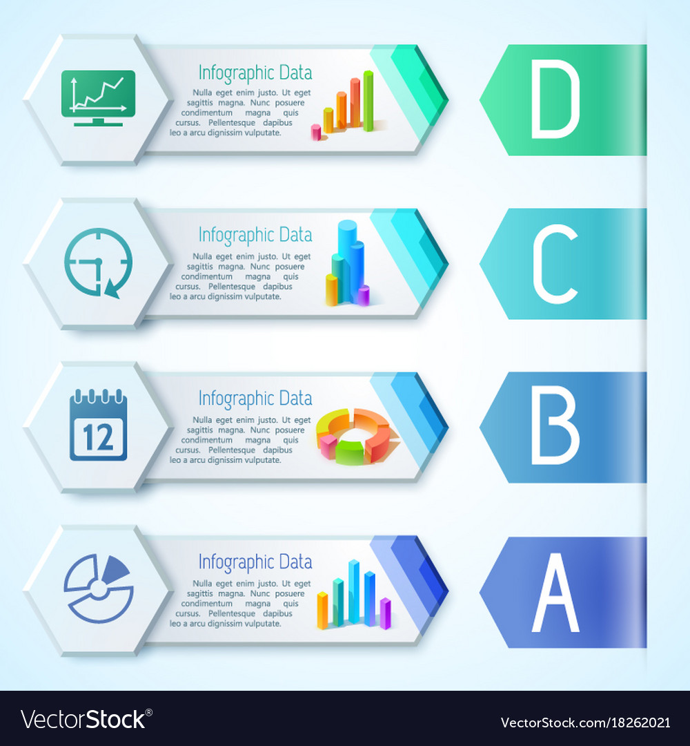 Modern infographic business horizontal banners