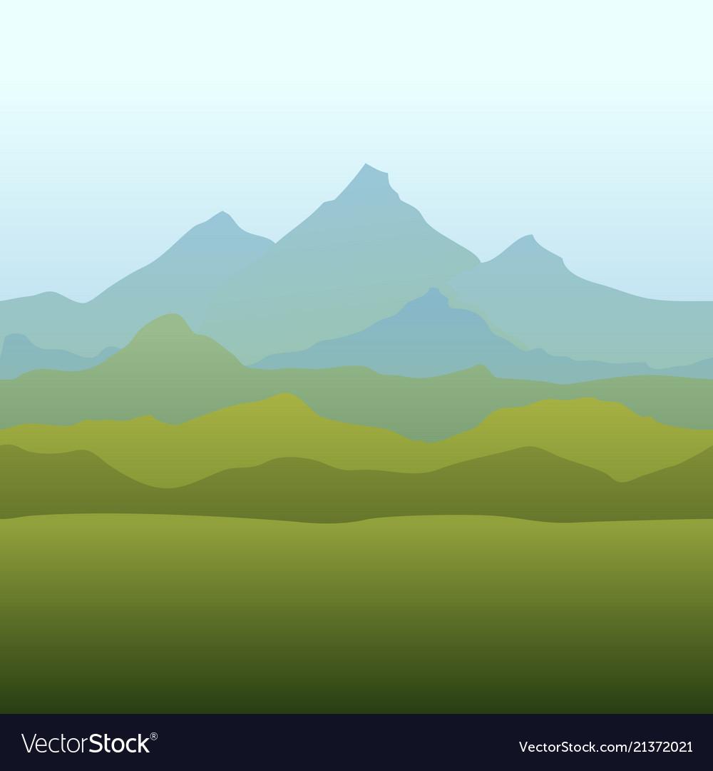 Seamless Horizon Border With Mountains Royalty Free Vector