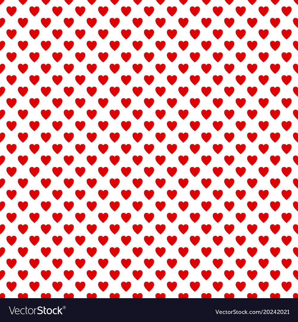 seamless red heart pattern background love vector image rh vectorstock com red heart background video red heart background design