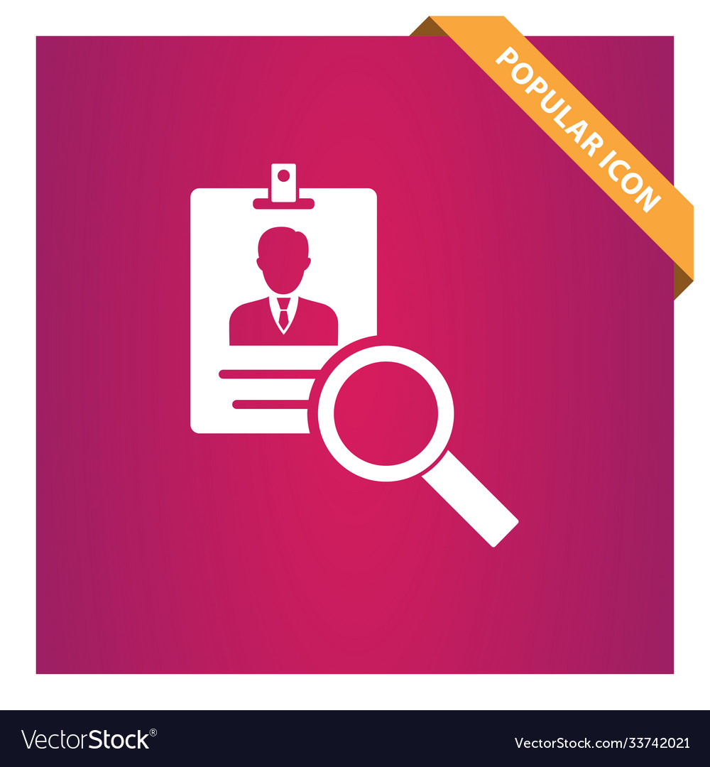 Search id card icon