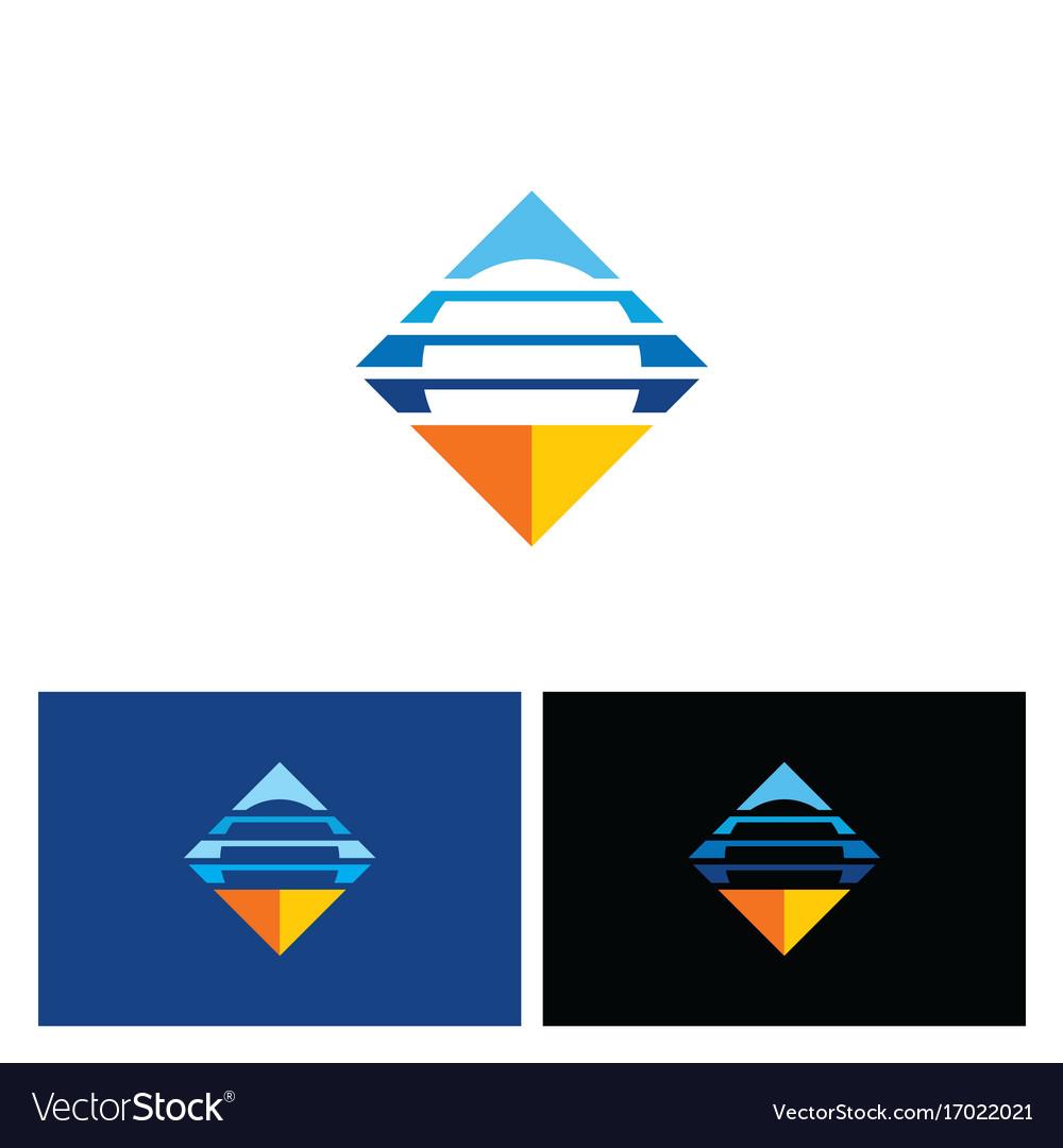Square horizon line logo
