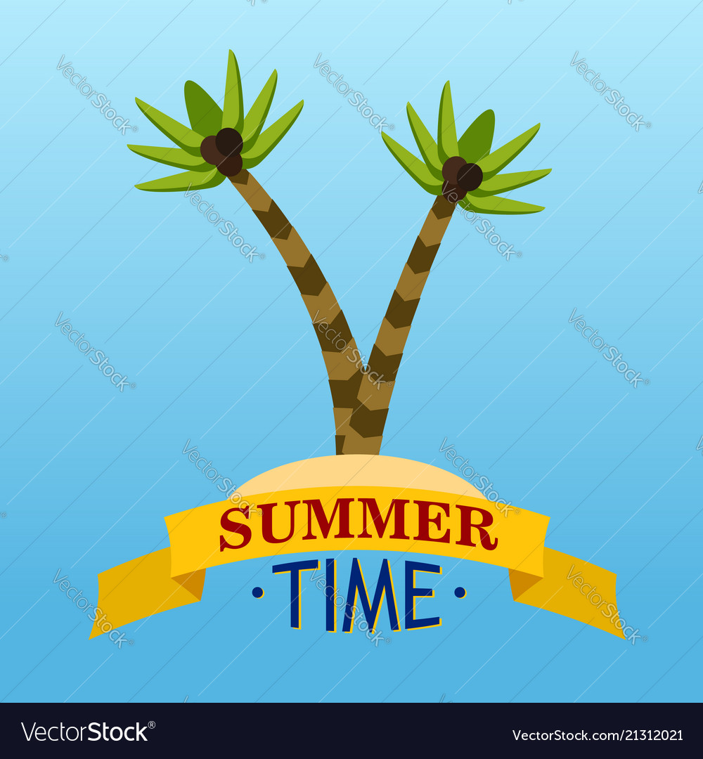 Summer time with palms