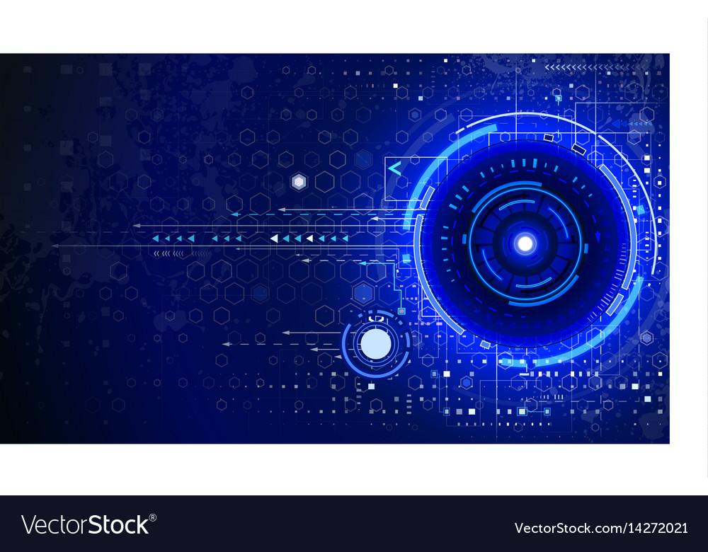 Tech composition vector image