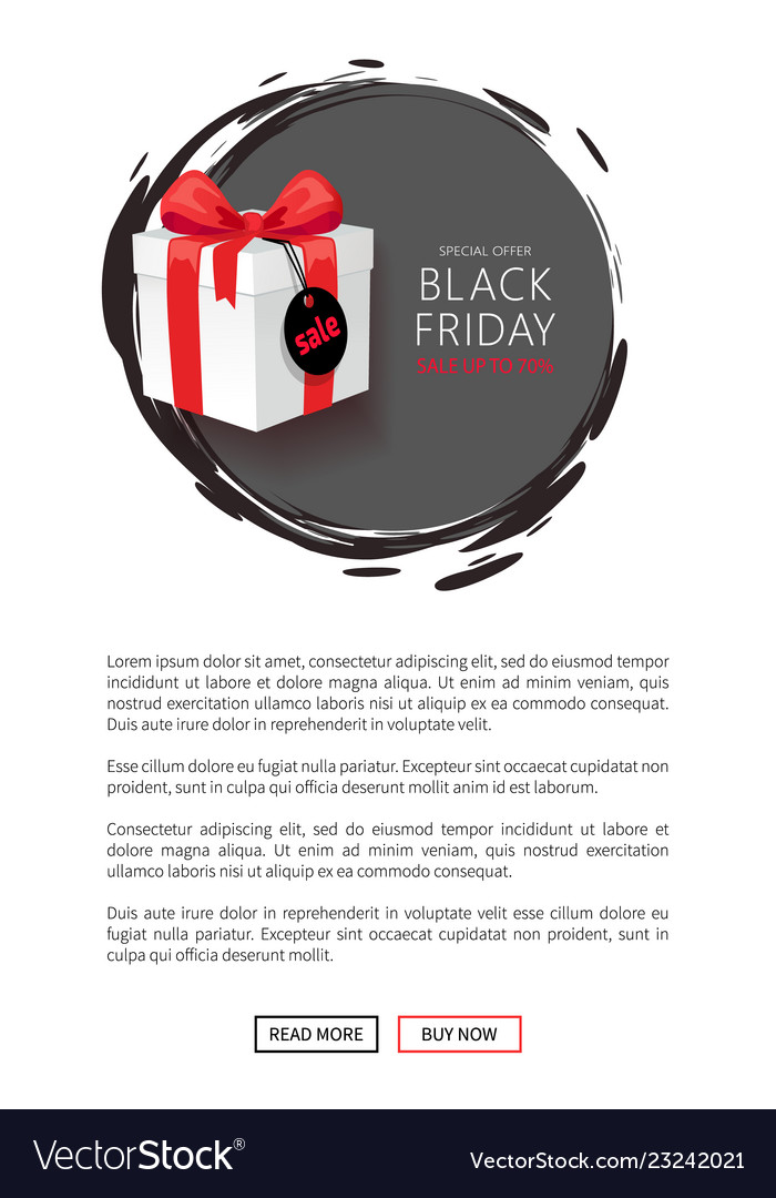 Wholesale On Black Friday Web Page Template Vector Image