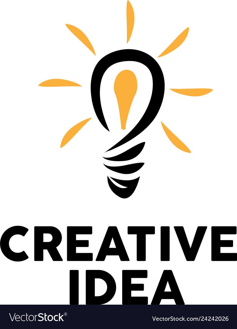 Bulb creative logo design inspiration