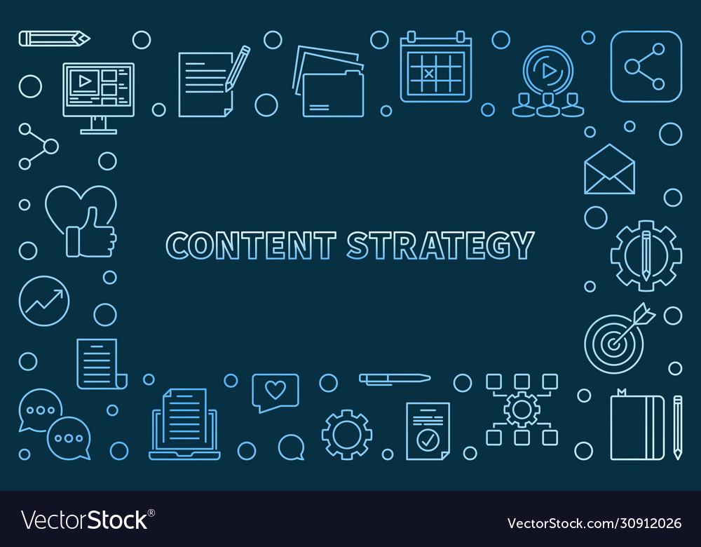 Content strategy concept outline colorful