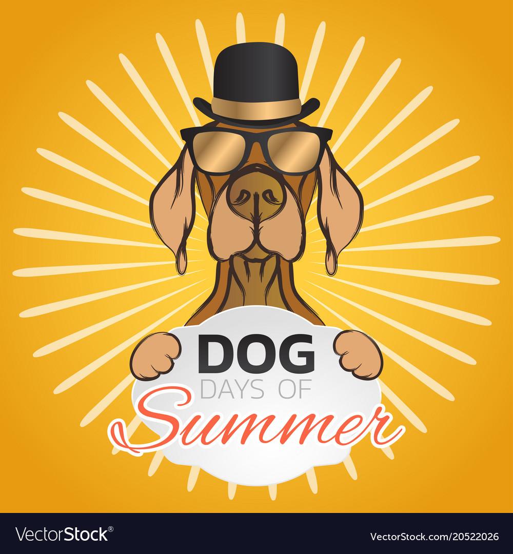 Dog days of summer logo icon design