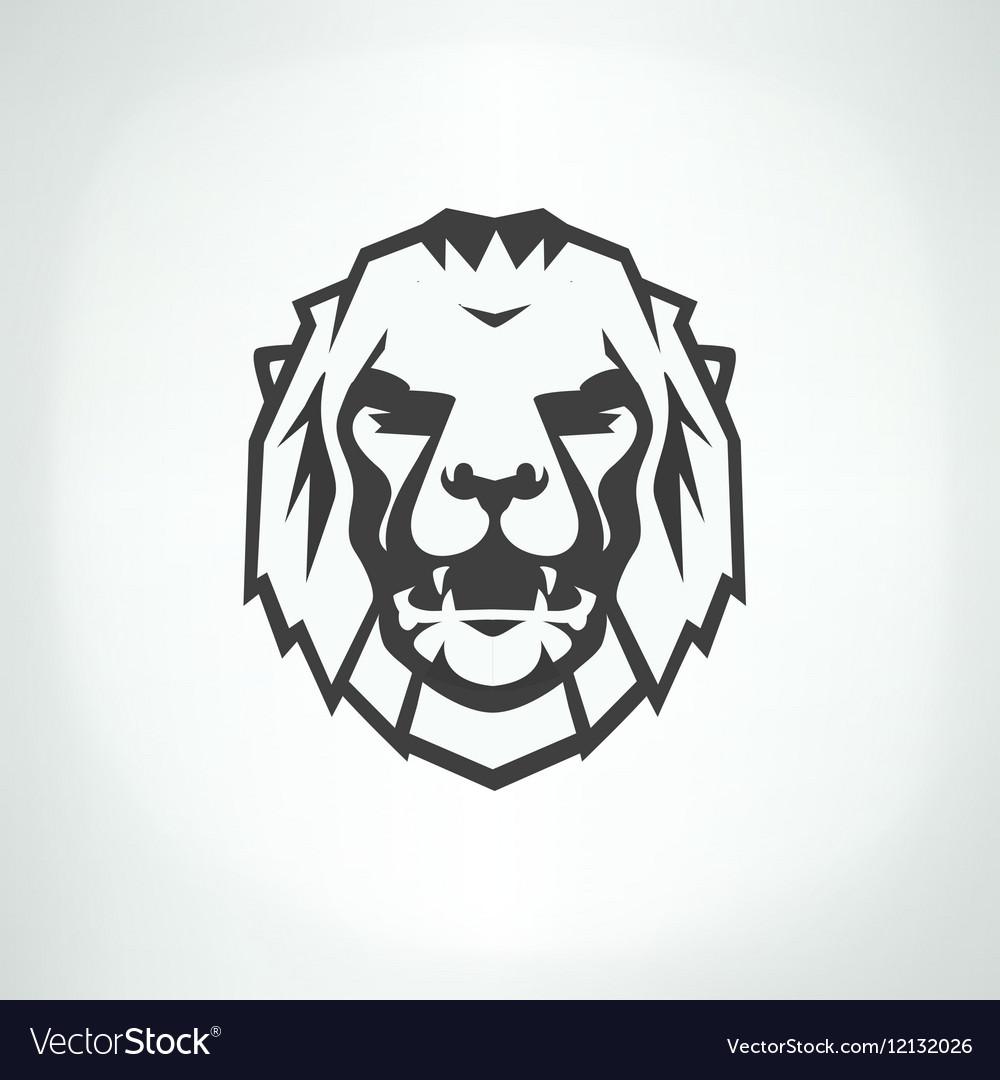 Lion face logo emblem template