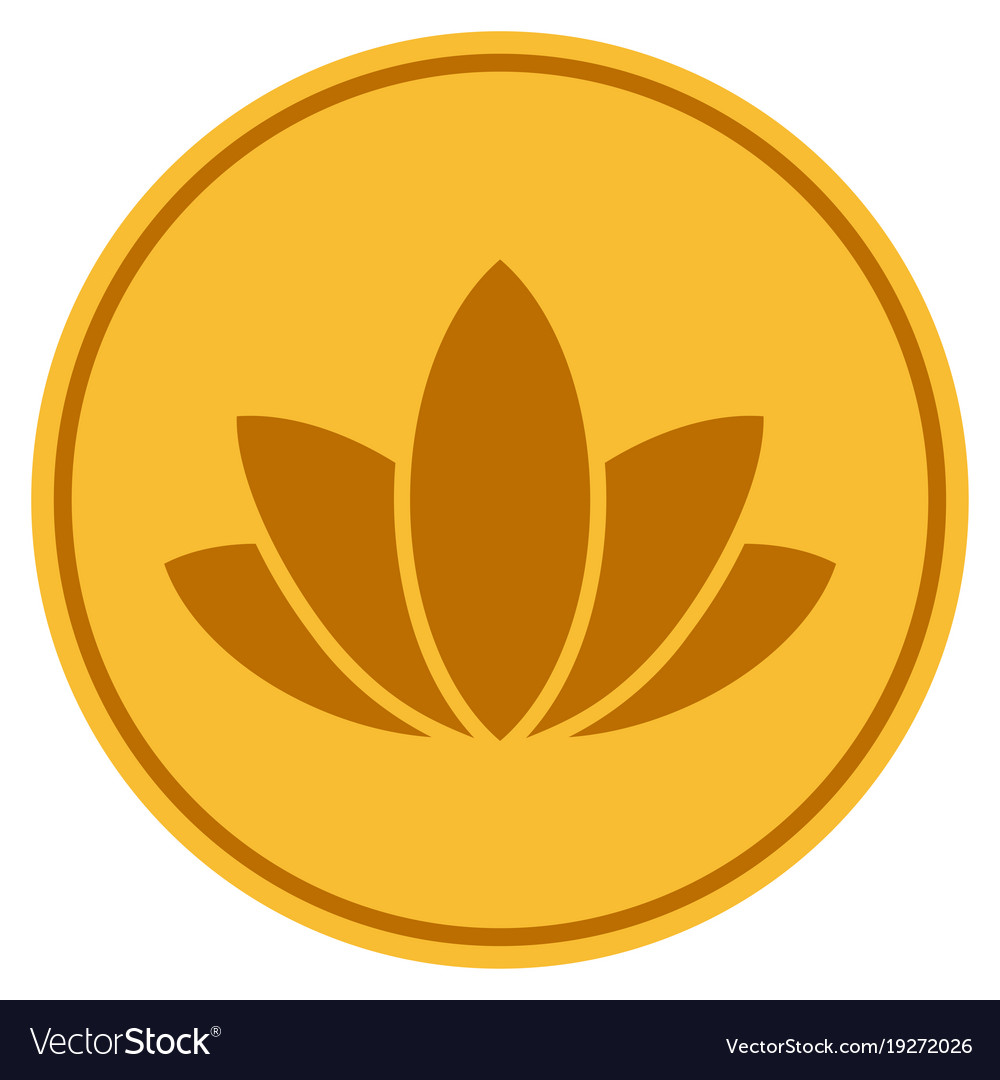 Lotus flower gold coin royalty free vector image lotus flower gold coin vector image izmirmasajfo