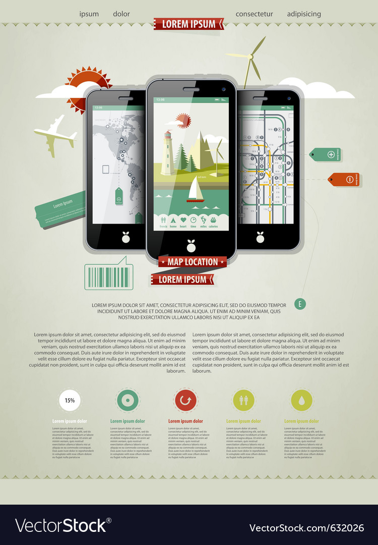 Mobile phones infographics