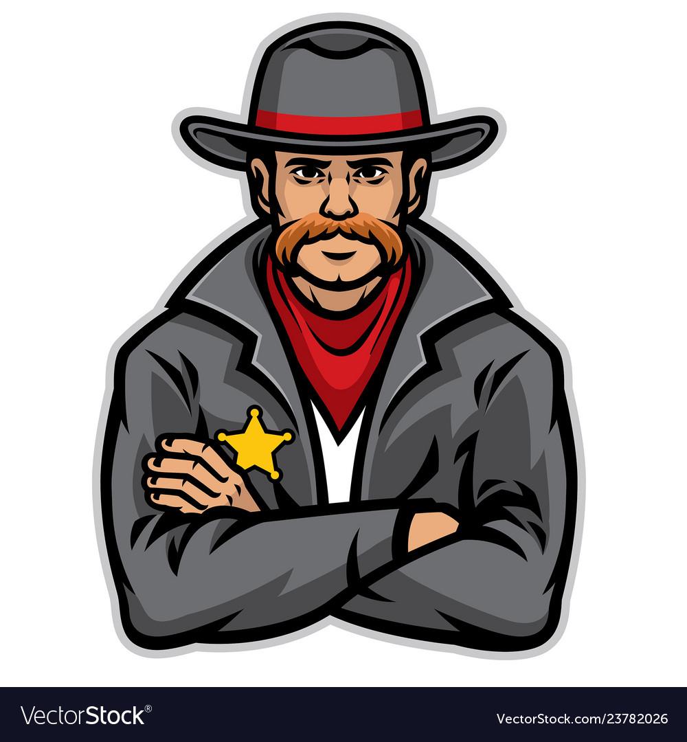 Old style sheriff posing