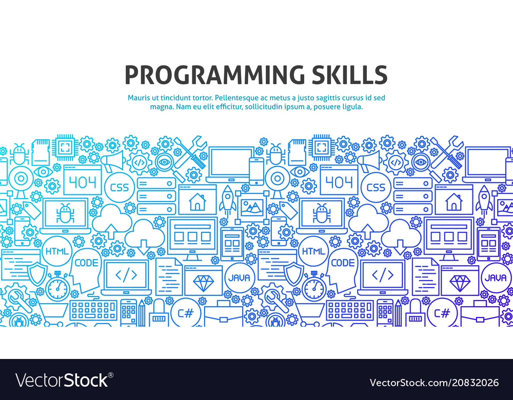 Programming skills concept vector image