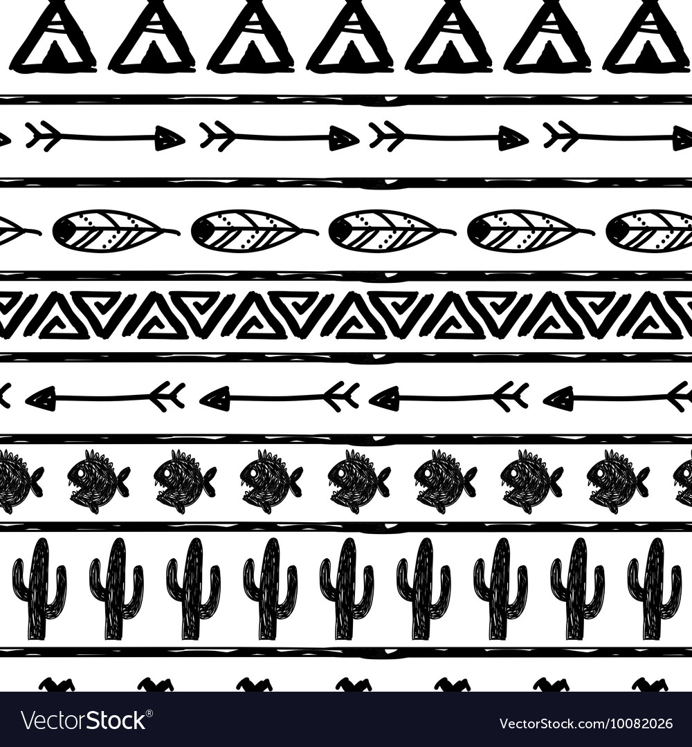 Seamless pattern in the style of boho or