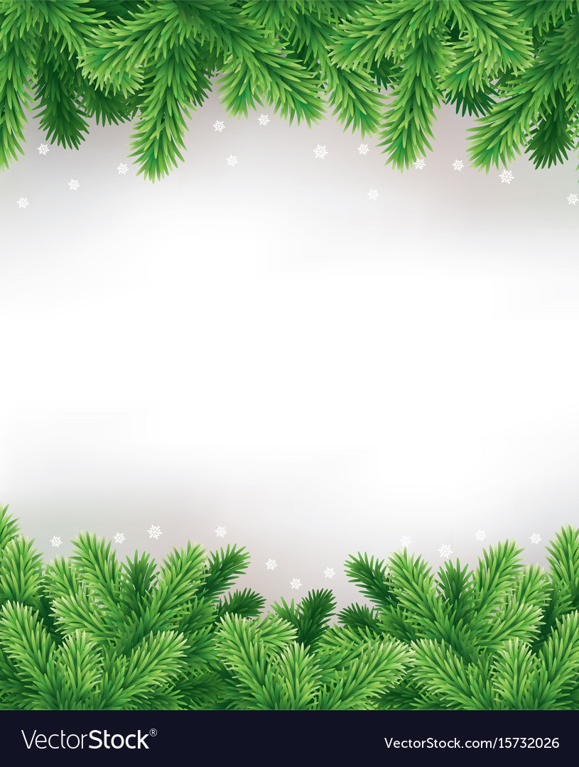 Traditional Green Christmas Decorations Background