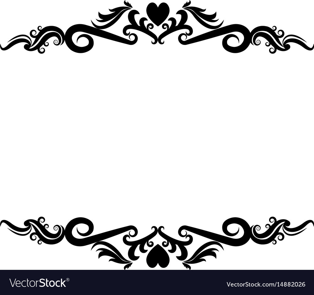 vignette heart decorative crest ornate flourish vector image rh vectorstock com decorative flourish vectors flourish vector images