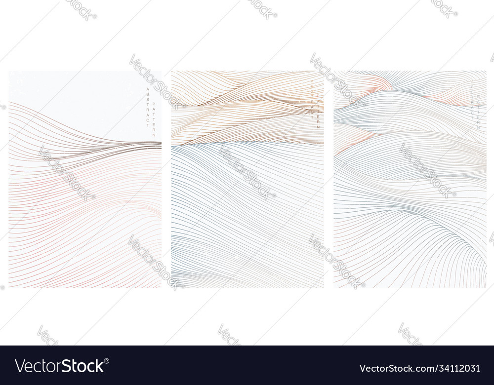 Abstract art background with line pattern art