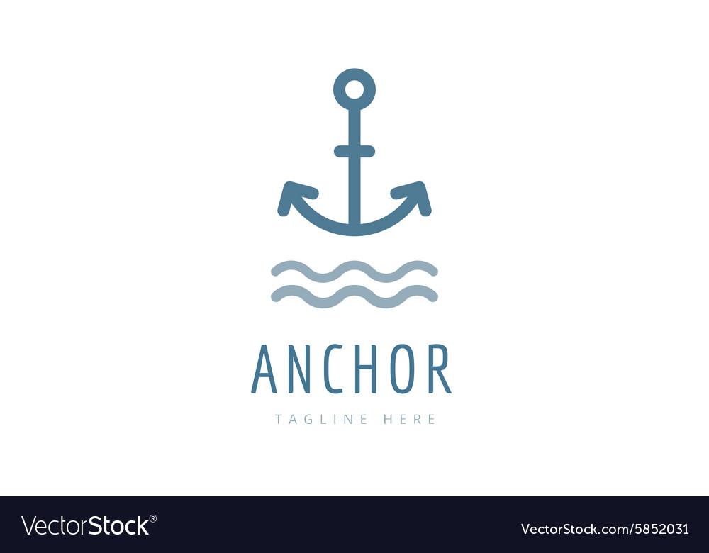 Anchor logo icon Sea sailor symbols