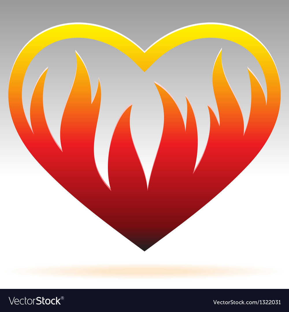 Burning heart sign