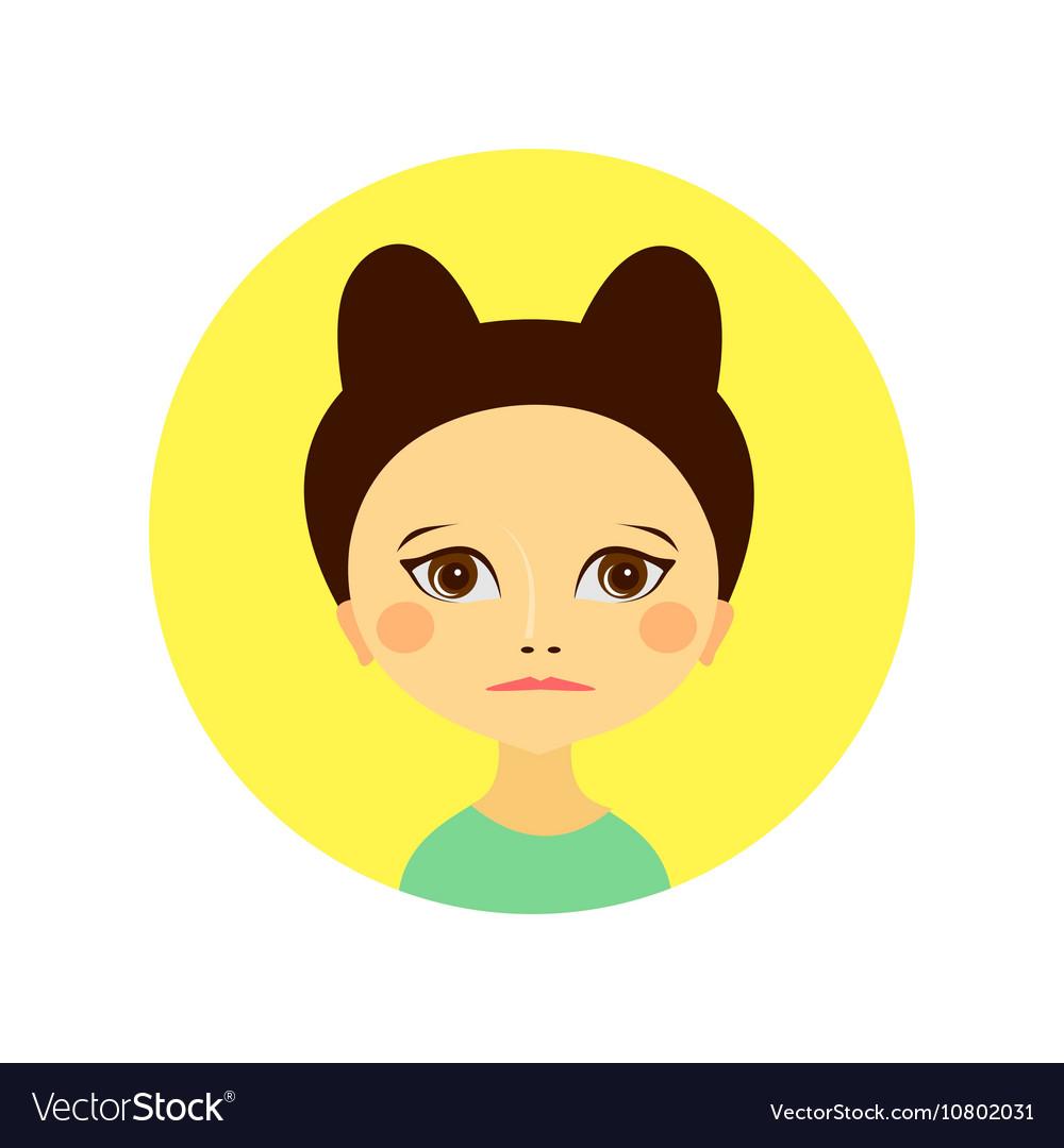 Female face avatar profile head