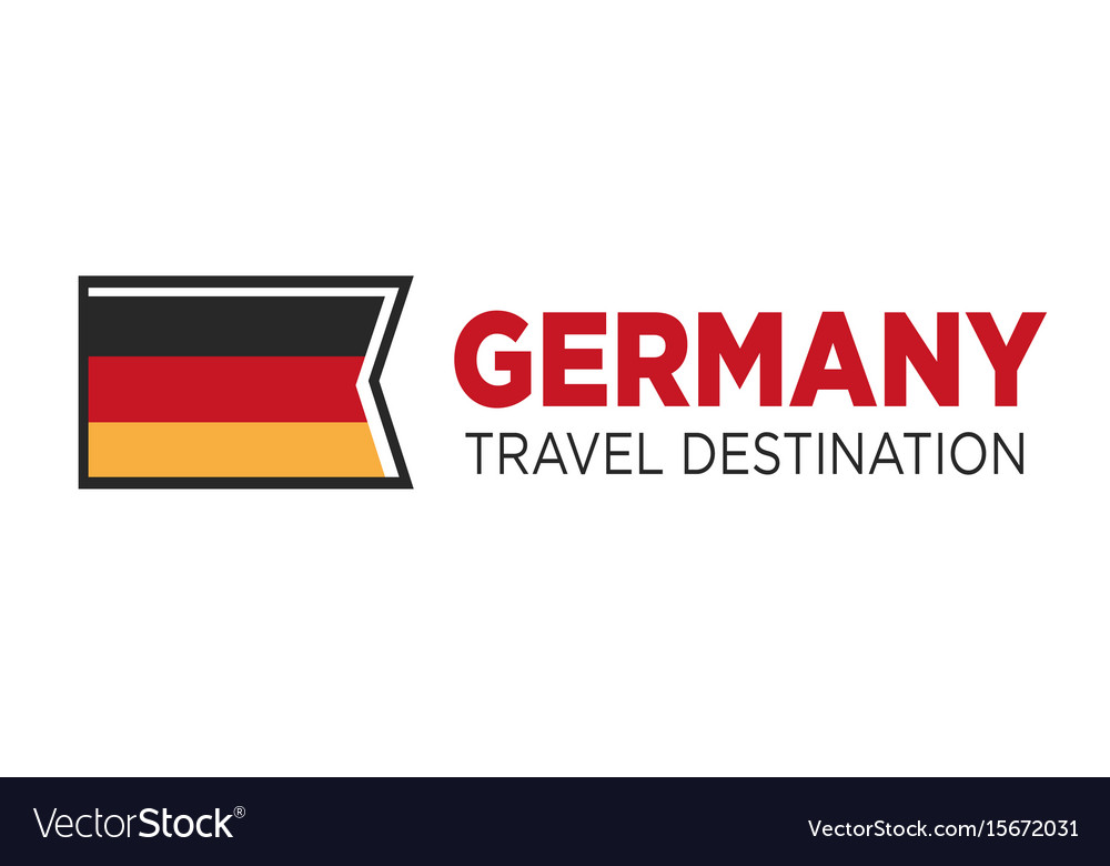 Germany travel destination poster with national