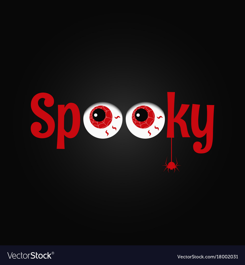 Halloween party eye design background spooky text