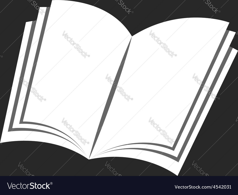 Isolated book icon black and white background