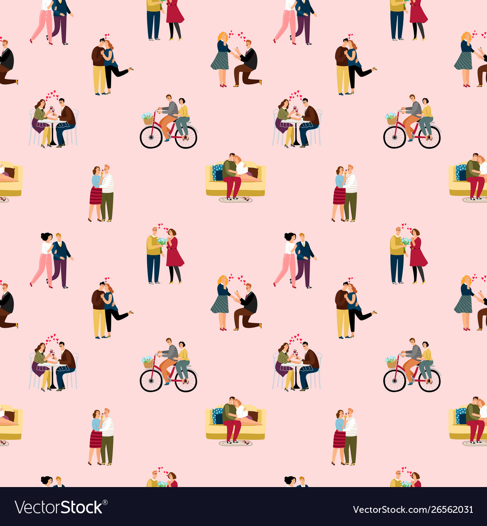 Love couples people pattern