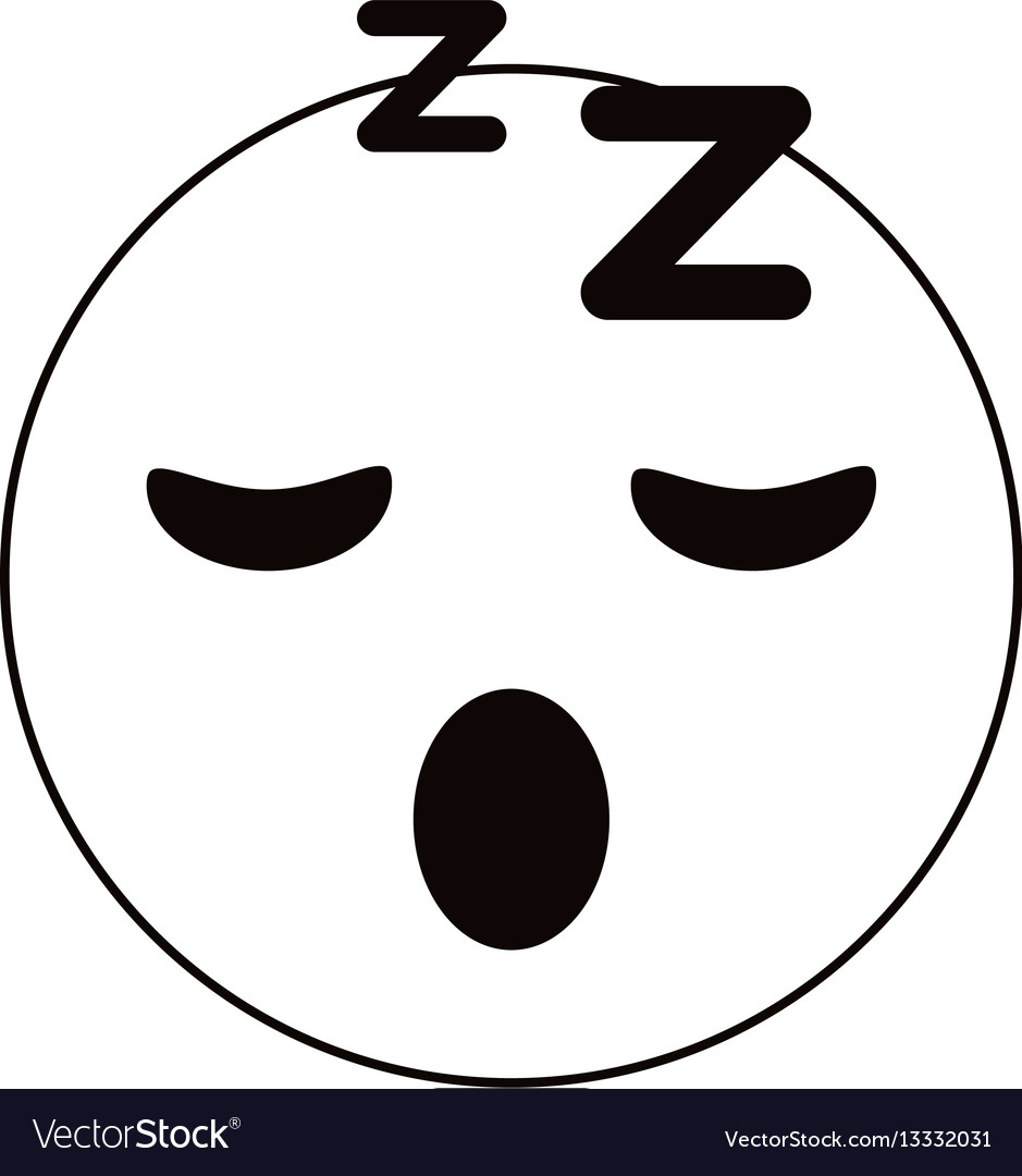 Sleepy emoticon funny thin line
